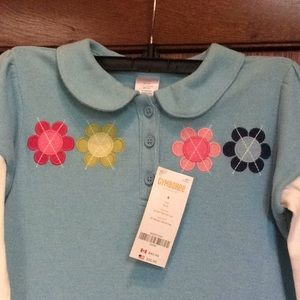 NEW Gymboree Smart and Sweet tiered pique dress